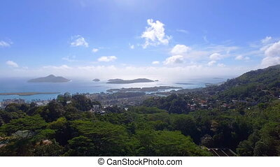 Aerial View Of Mountains And Ocean from Sans Souci Viewpoint, Seychelles 3