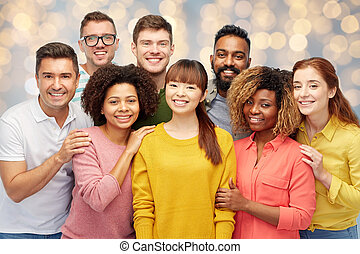 international group of happy smiling people - diversity,...