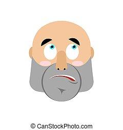brutal Man surprising Emoji. Men face astonished emotion...