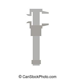 Calipers isolated. Tool on white background. turn-screw flat