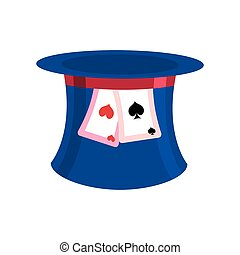 Hat Mad Hatter isolated. Clothing accessories fairy tale...