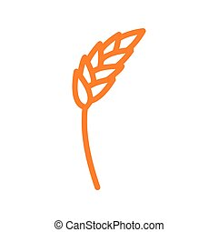 Rye ear line icon. wheat  Sign for production of bread and bakery. agriculture symbol