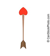 Cupid Arrow heart. Illustration for Valentines Day