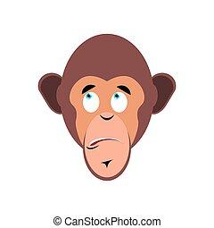 Monkey surprised Emoji. marmoset astonished emotion...