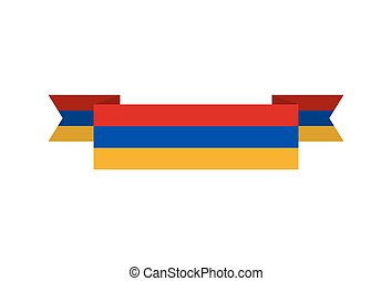 Armenia flag ribbon isolated. Armenian tape banner. National...
