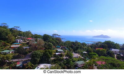 Aerial View Of Mountains And Ocean from Sans Souci...