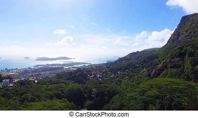 Aerial View Of Mountains And Ocean from Sans Souci Viewpoint, Seychelles 4