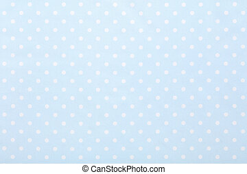 Baby blue polka dot fabric texture background