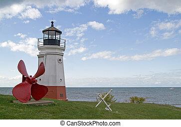 Vermilion Lighthouse, Lake Erie, Ohio, USA