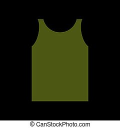 green Shirt Soldier. Army clothes isolated. Military...