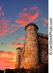 Castle - Middle Ages Templar castle outside of Madrid Spain