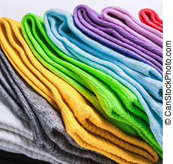 socks of different colors