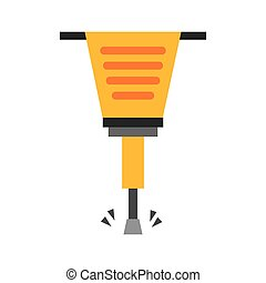 pneumatic hammer tool isolated icon vector illustration...