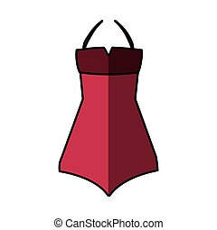 Sexy woman dress icon vector illustration design