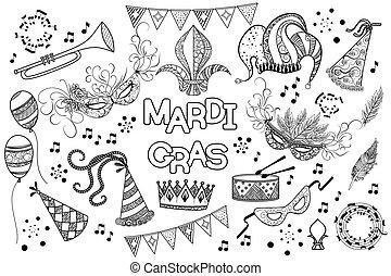 Mardi Gras design element