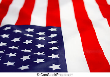 American flag - Beautifully star and striped American flag...