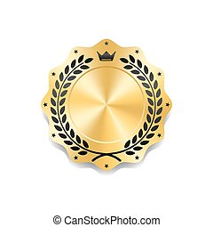 Seal award gold icon Blank medal