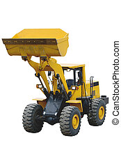 wheel tractor-loader - The image of wheel tractor-loader...