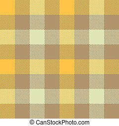 Yellow beige check plaid seamless pattern