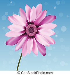 illustration of beautiful gerbera - very high quality...