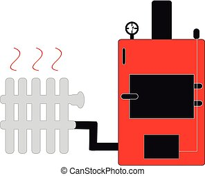 Boiler on white background
