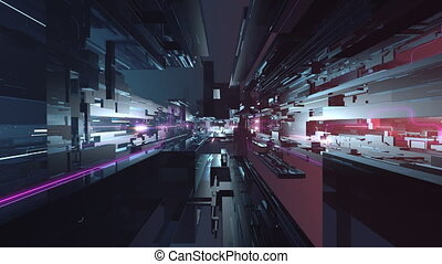 Futuristic high-tech seamlessly looping motion background -...