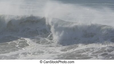 Beautiful And Huge Waves, Atlantic Ocean - Native Material,...