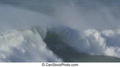 Beautiful And Huge Waves, Atlantic Ocean - Native Material,...