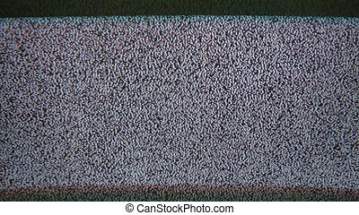 noise interference bad tv signal screen the television -...
