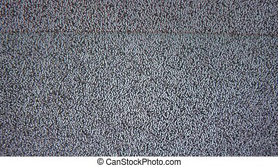 bad tv signal noise interference screen the television - bad...