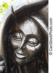 Statue of face