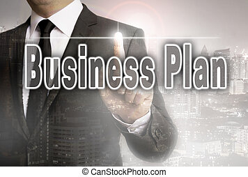 Business plan is shown by businessman concept.