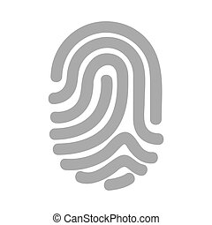 finger print isolated icon