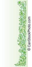 Vignette 4 IC - Refined floral vignette. Eau-forte color...
