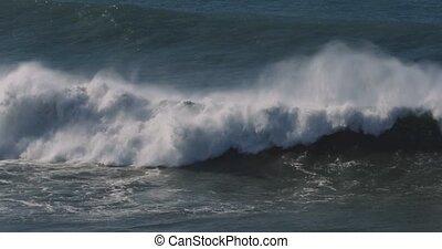 schöne, Riesig, eingestuft,  -, wasserlandschaft,  Version, atlantisch, Wellen