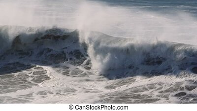 Beautiful And Huge Waves, Atlantic Ocean - Graded version....