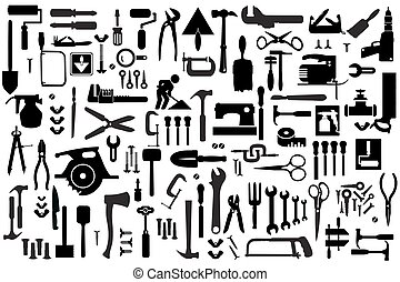 Set retro building tools - Set of retro building tools and...