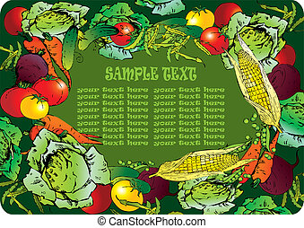 Vegetables frame - Frame of the different vegetables Sample...