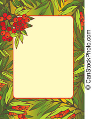 Frame - Beautiful frame with Rowan leaves Place for sample...