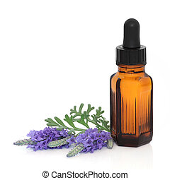 Lavender Herb Flower Essence - Lavender herb flower leaf...