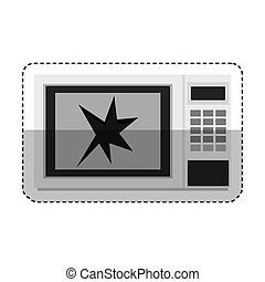 Broken microwave oven icon vector illustration design