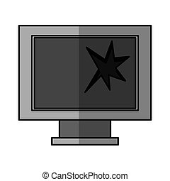computer monitor broken isolated icon