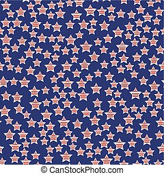 President Day Seamless Pattern - Abstract American President...