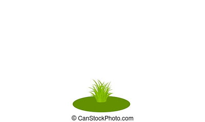 Wooden arrow on grass - Wooden arrow on Grass. Place your...