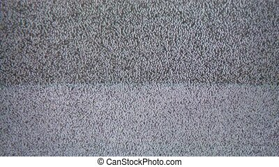 noise tv interference bad signal screen the television -...