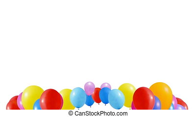 Balloons fly to the ceiling - Multicolor Balloons fly to the...