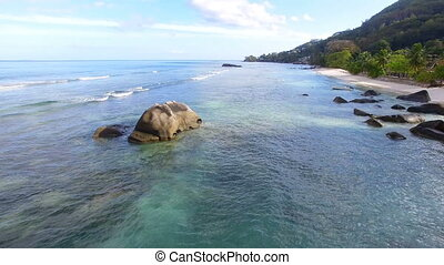 Aerial View Of Beau Vallon Beach And Rocks, Mahe Island, Seychelles 3
