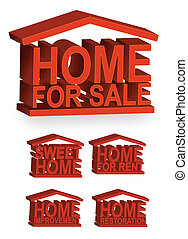 Home Icons / Vector - Home icons. Vector file also...