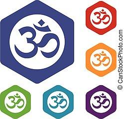 Symbol Aum icons set