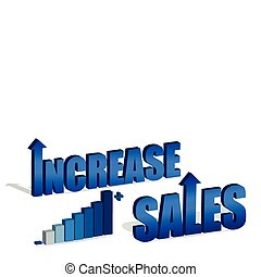 Increase Sales chart and text. Vector file also available.